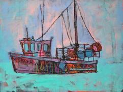 Sea Boat 40cm x 30cm Acrylic on board £600