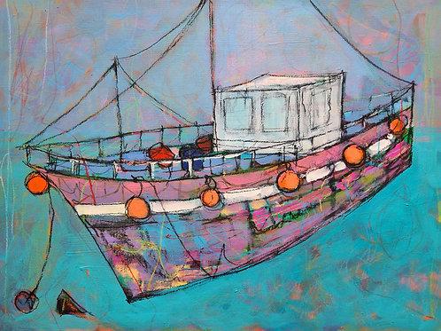 Purple Sky Boat