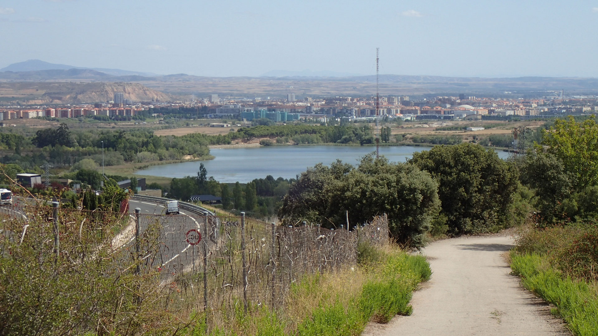 Climbing out of Logrono