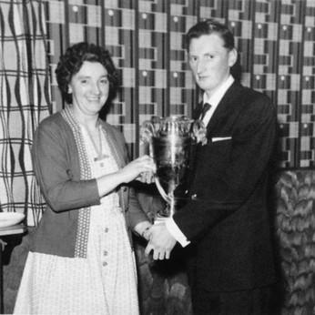 Trevor Bracegirdle, receiving the Club's