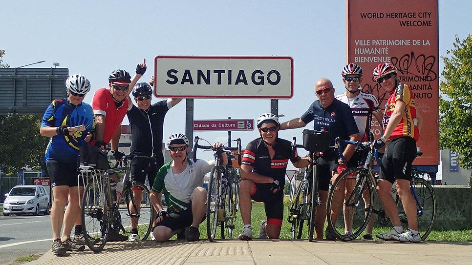 Stretford Wheelers arriving at Santiago de Compostela