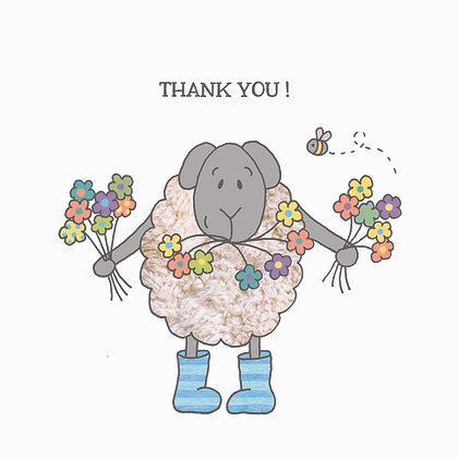 THANK YOU CARD (pack of 6)