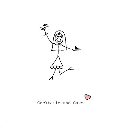 COCKTAILS & CAKE CARD (pack of 6)
