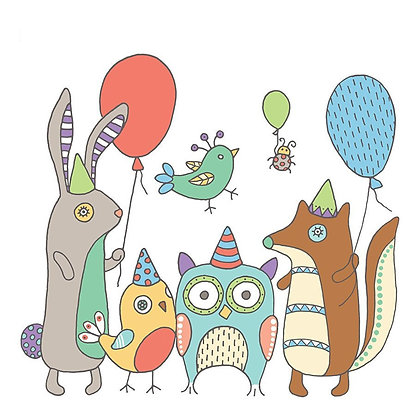 FOREST ANIMALS CARD (pack of 6)