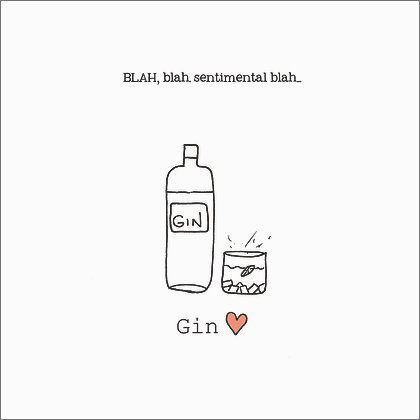 GIN CARD (pack of 6)