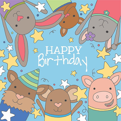 BIRTHDAY STARS CARD (pack of 6)