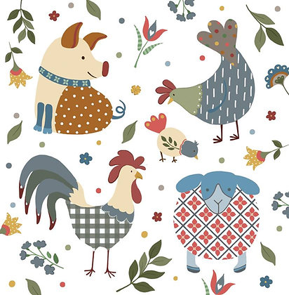 COUNTRY FARM 1 CARD (pack of 6)