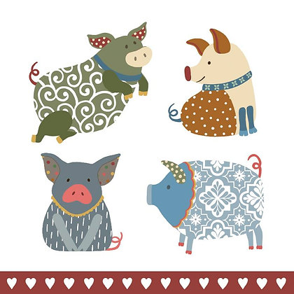COUNTRY FARM PIG CARD (pack of 6)