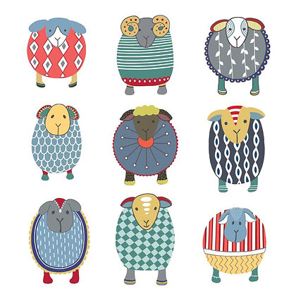 COLOUR FLOCK CARD (pack of 6)