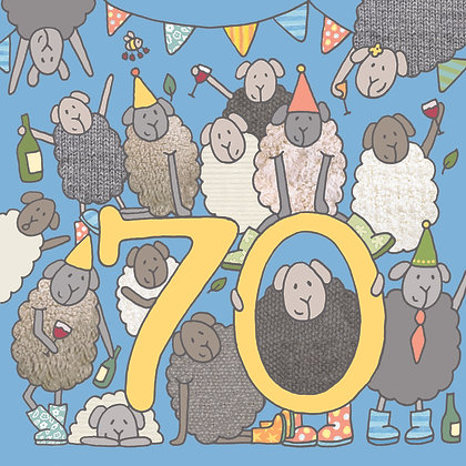70th BIRTHDAY CARD (pack of 6)
