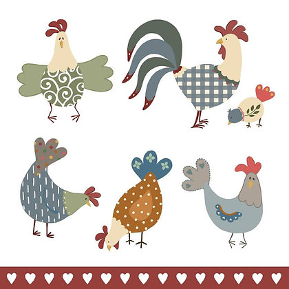CHICKENS CARD (pack of 6)