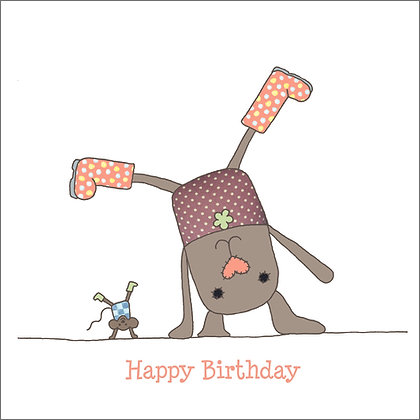 CARTWHEEL BIRTHDAY CARD (pack of 6)