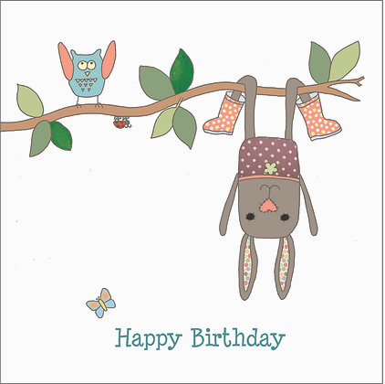 RABBIT ON BRANCH CARD (pack of 6)