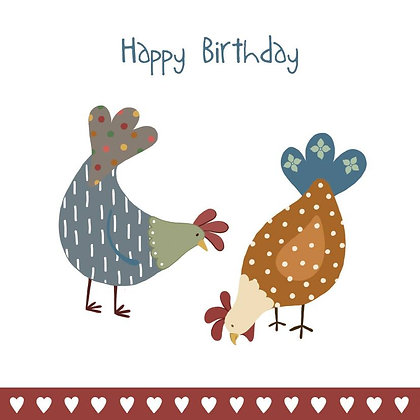 BIRTHDAY CHICKENS CARD (pack of 6)