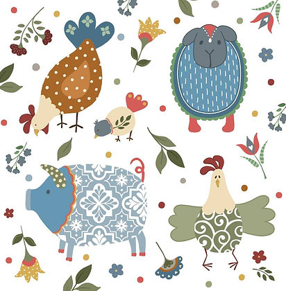 COUNTRY FARM 2 CARD (pack of 6)
