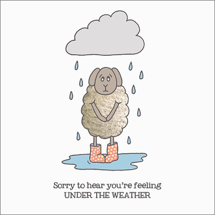 UNDER THE WEATHER CARD (pack of 6)