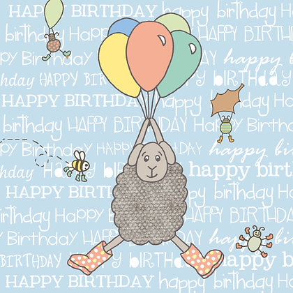 BALLOONS BIRTHDAY CARD (pack of 6)