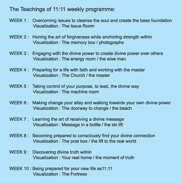 The teachings of 11:11 weekly programme
