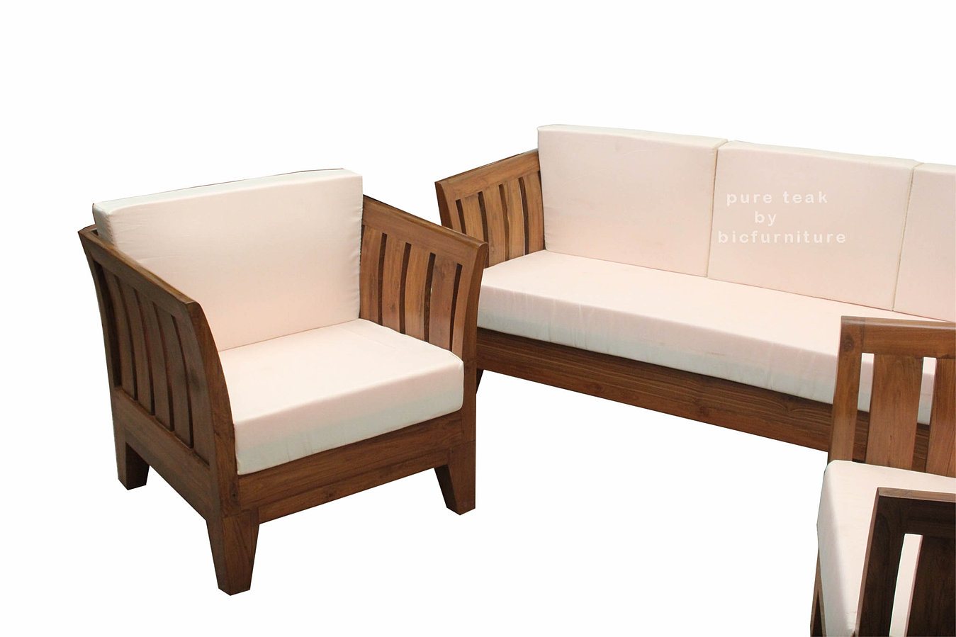 Indian Teak Wood Sofa Set