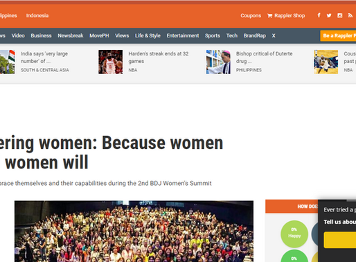Empowering women: Because women can and women will