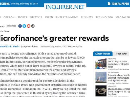 Microfinance's greater rewards