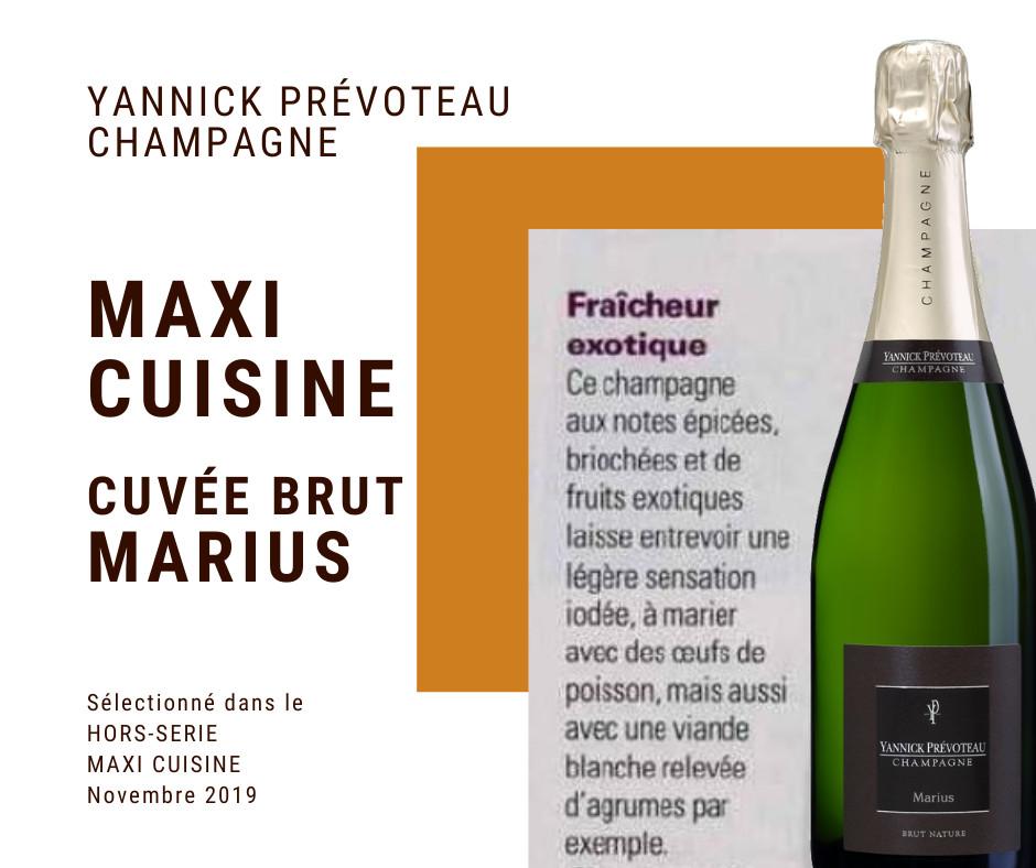 Maxi Cuisine Hors Série spécial Noël et champagne Yannick Prevoteau