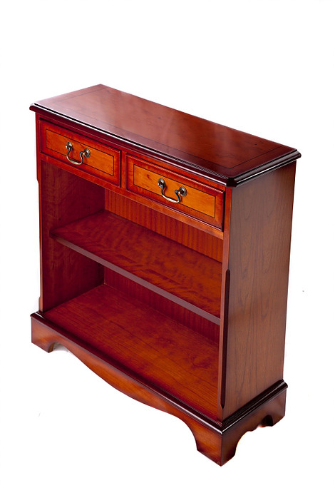 Yew 2 Drawer Bookcase