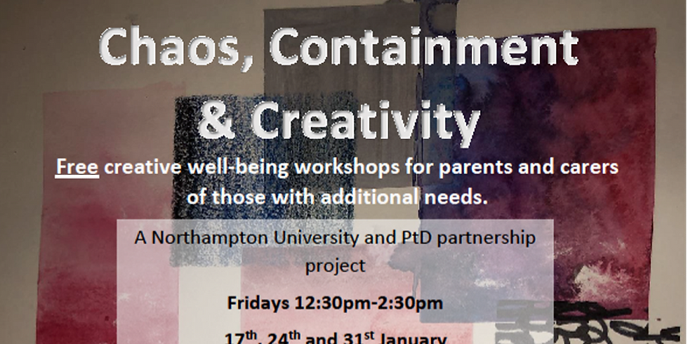Free Creativity Workshops for parents and carers