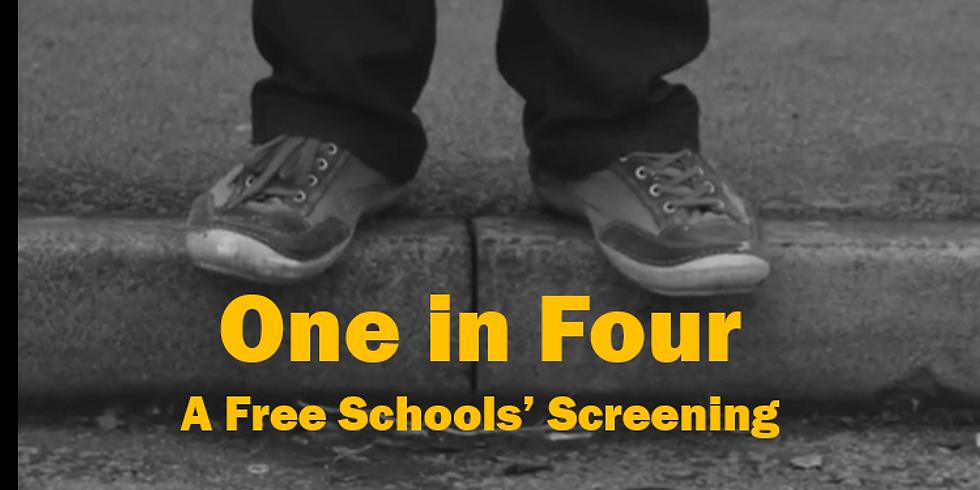 Free Schools' Screening 'One in Four'