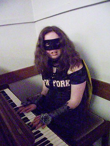 Zorro on piano!