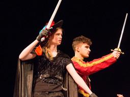 Antonio & Sebastian face Ariel the harpy