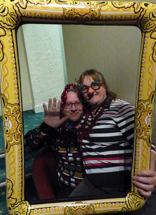 On the door - the lovely Gail & Dave