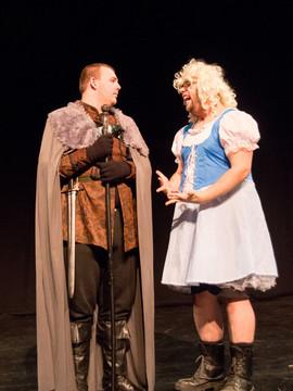 Prospero counsels his daughter Miranda