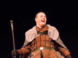 Prospero enjoys an off-script joke