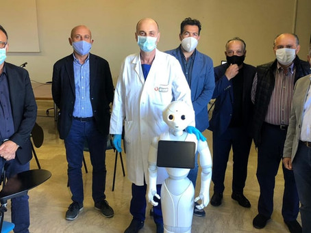 Pepper, the humanoid robot at the service of Santa Caterina Novella patients, Lecce (Italy)
