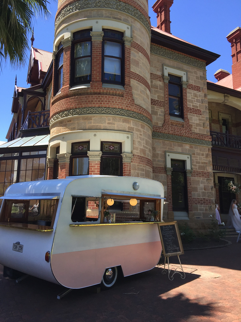 Mobile bar van service at Carclew House North Adelaide