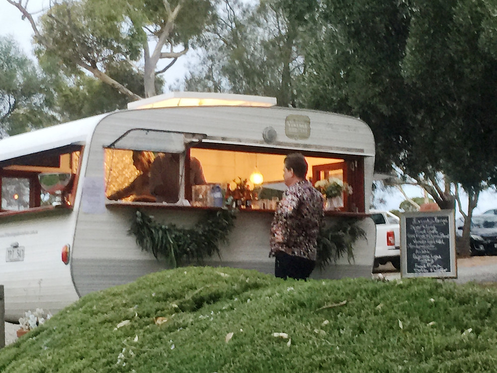 Little Vintage Bar and Van Caravan Bar at a wedding in Adelaide