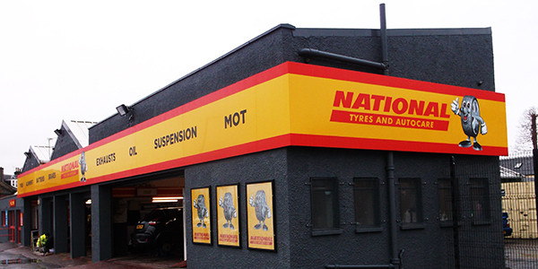 Shop front national tyres
