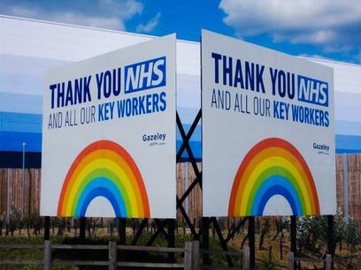 NHS signs & Coronavirus