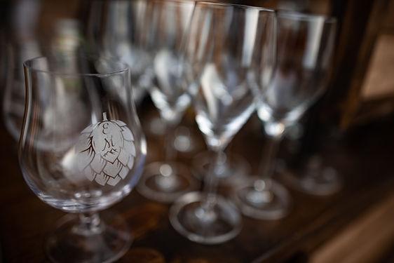 monogram glassware