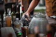 pouring drinks