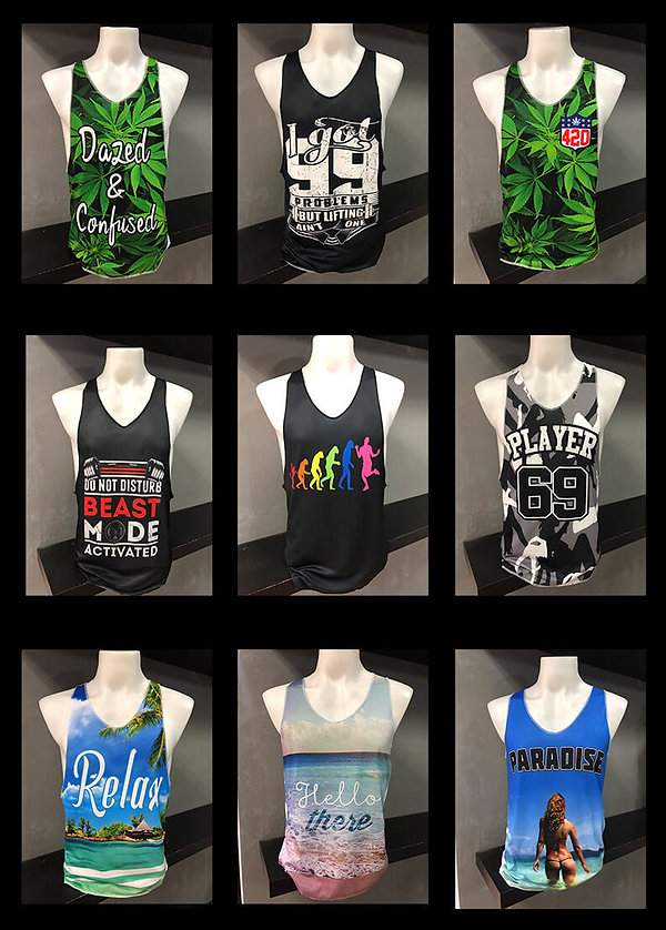 gym singlets thai, custom tshirts, baiyo
