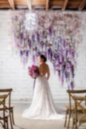 Wedding-Ideas-elegant-hanging-lilac-flow