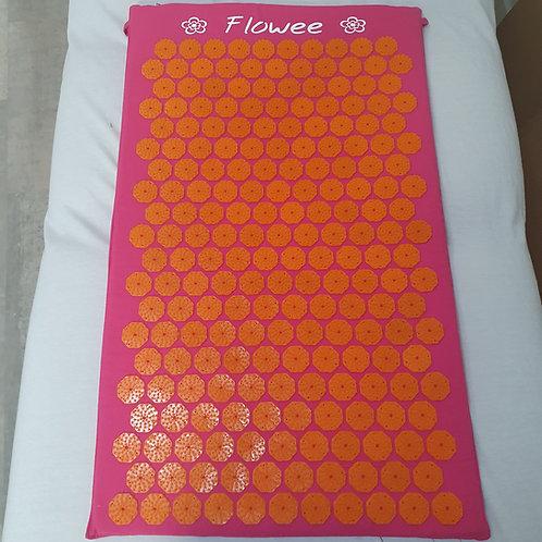 Flowee spijkermat fuchsia/oranje