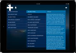 Menu Private Islands App
