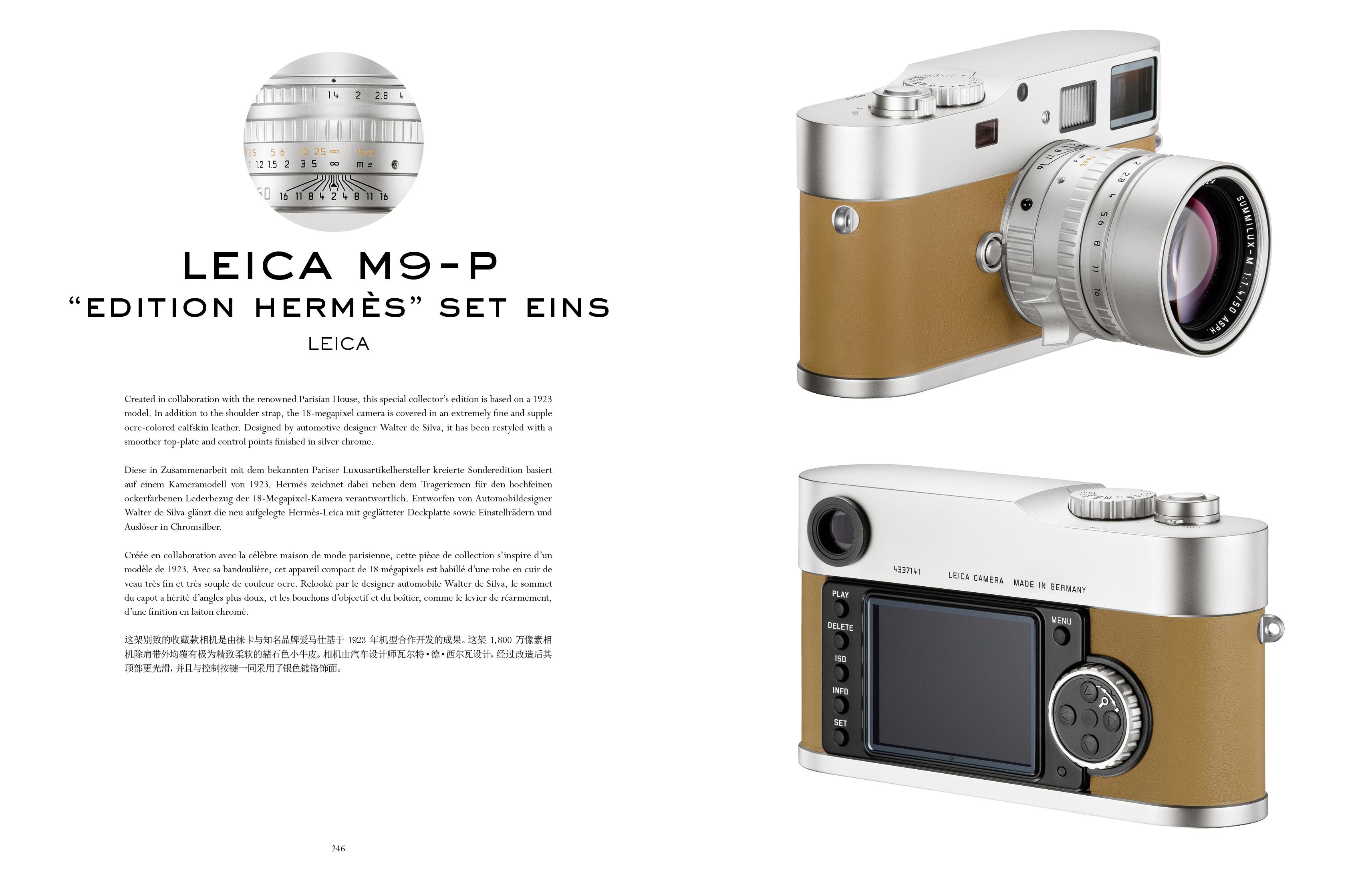 "leica m9-p ""edition hermès"" set eins"