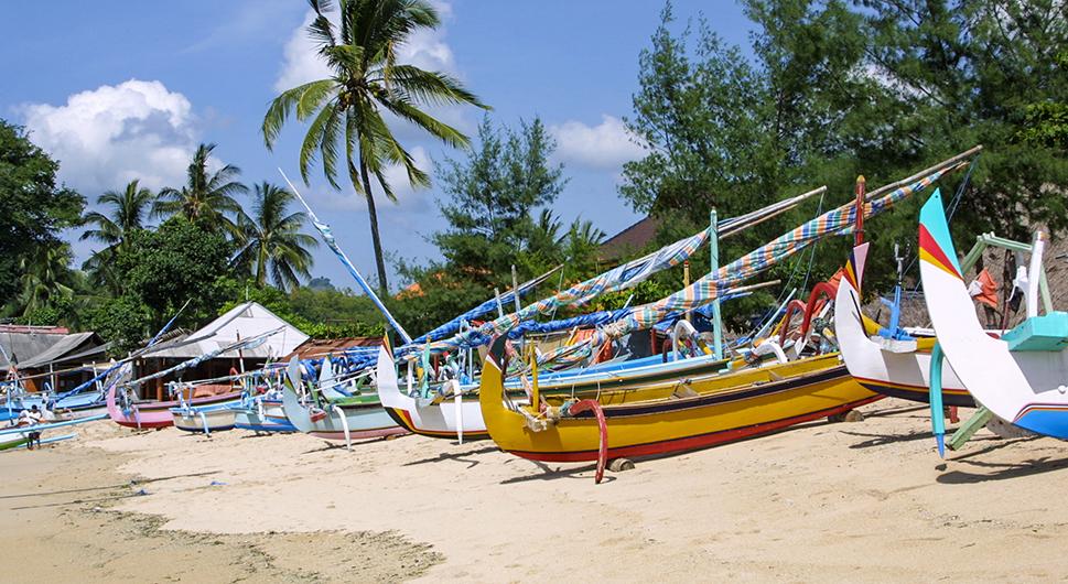 Balinese fisherboats