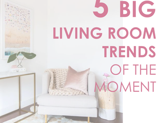 5 Big living room trends of the moment