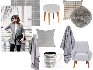 From runway to room: Glen Plaid