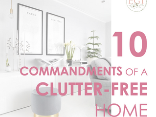 10 Commandments Of A Clutter-Free Home